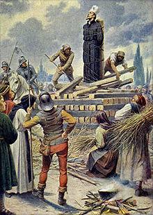 João Hus na fogueira